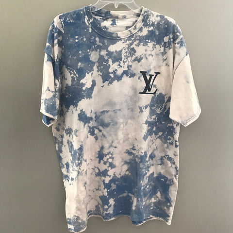 """LV"" Logo Acid Wash Tee"