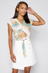 Tropical Linen Crop Top