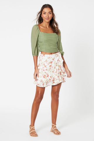 Melanie Chiffon Mini Skirt