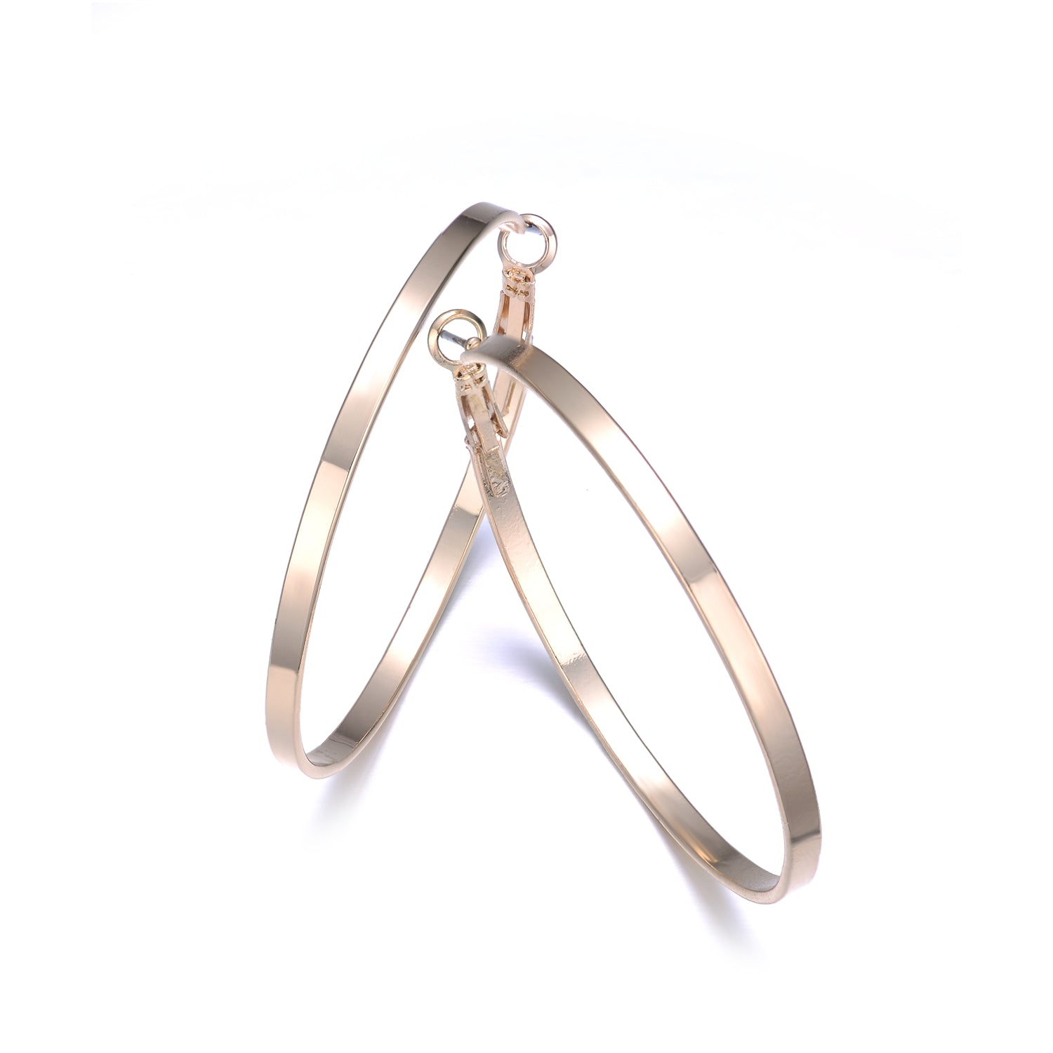 Hoop Earrings Gold 50mm By Jewels To Jet-Jewels to Jet-Magnetic Clasp Jewelry