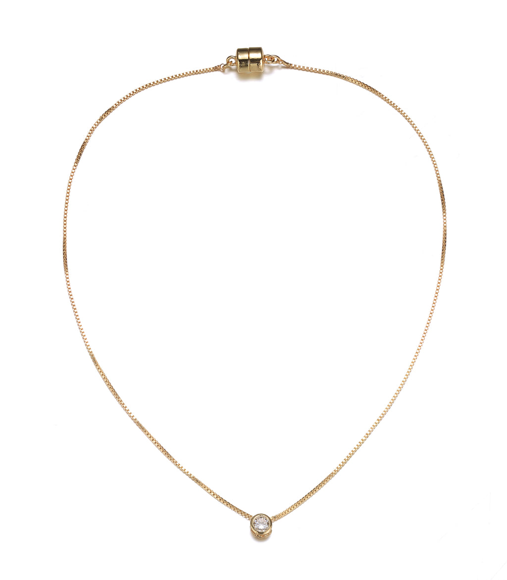 Allure: Gold Diamond Pendant Necklace-Jewels to Jet-Magnetic Clasp Jewelry