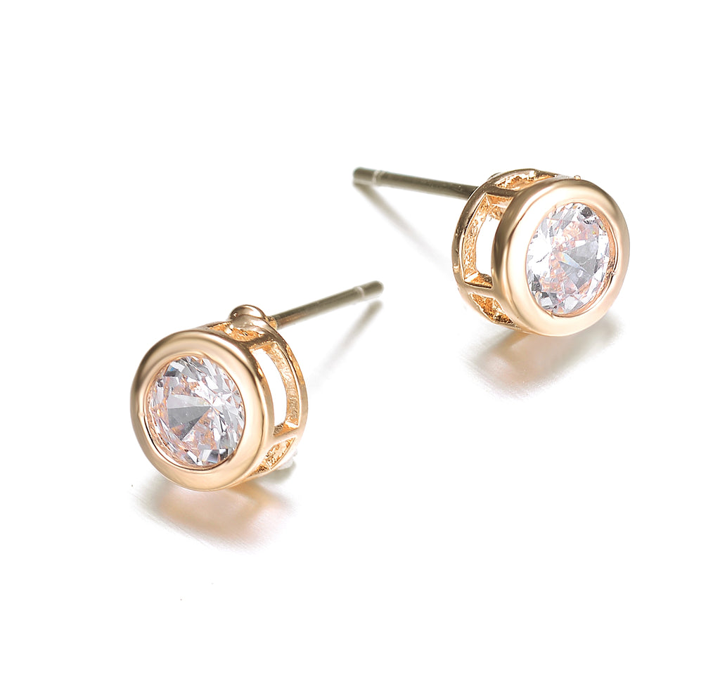 Allure: Gold Stud Earrings-Jewels to Jet-Magnetic Clasp Jewelry