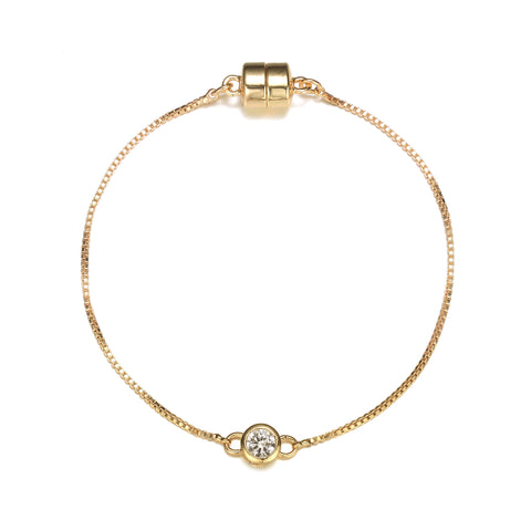 Allure: Gold Bracelet-Jewels to Jet-Magnetic Clasp Jewelry
