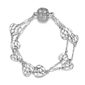 Amore Bracelet: Silver or Gold-Jewels to Jet-Magnetic Clasp Jewelry
