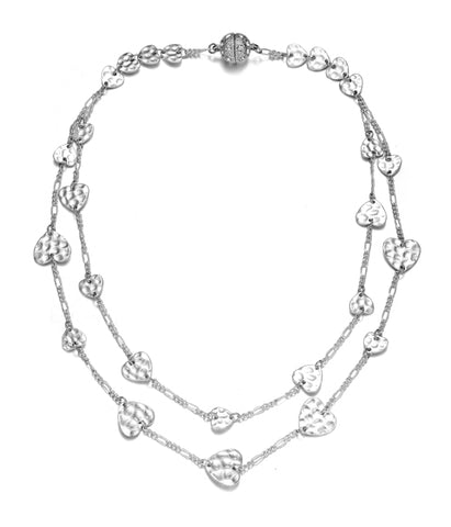 Amore Silver Short Necklace-Jewels to Jet-Magnetic Clasp Jewelry