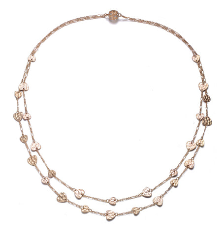 Amore Gold Long Necklace - Jewels to Jet