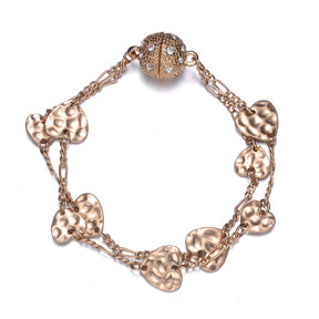 Amore Gold Bracelet-Jewels to Jet-Magnetic Clasp Jewelry