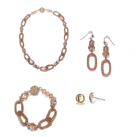 Anastasia: Gold Vintage Full Set Jewelry Collection-Jewels to Jet-Magnetic Clasp Jewelry