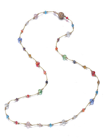 Bellissima: Long Beaded Necklace-Jewels to Jet-Magnetic Clasp Jewelry