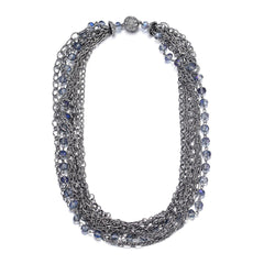 Clarice: Silver Multistrand Necklace With Magna Clasp