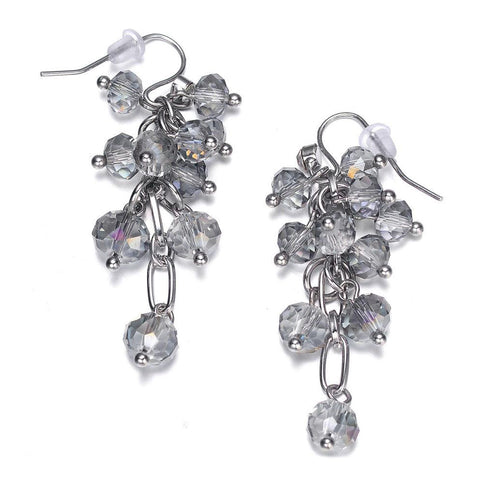 Clarice: Silver & Topaz Earrings-Jewels to Jet-Magnetic Clasp Jewelry