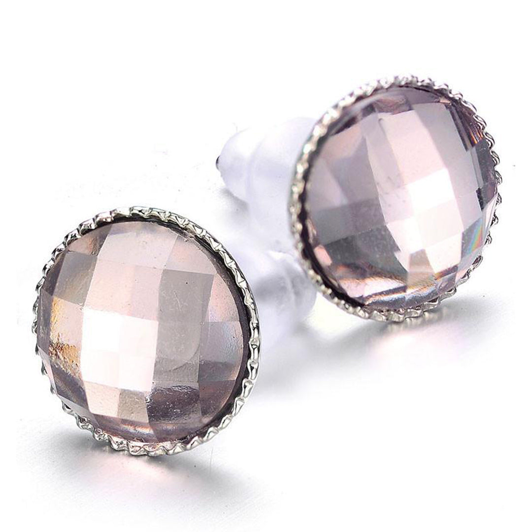 Clarice: Stud Earrings in Silver or Gold-Jewels to Jet-Magnetic Clasp Jewelry
