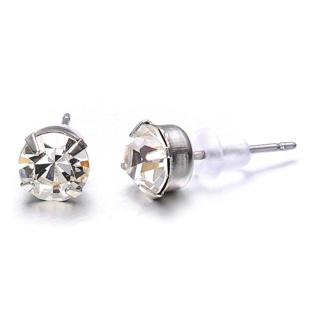 Elizabeth: Silver Stud Earrings-Jewels to Jet-Magnetic Clasp Jewelry