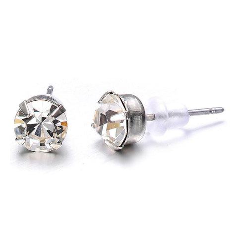 Elizabeth: Silver Stud Earrings - Jewels to Jet