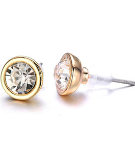 Kingston Crystal Stud Earrings: Silver or Gold-Jewels to Jet-Magnetic Clasp Jewelry