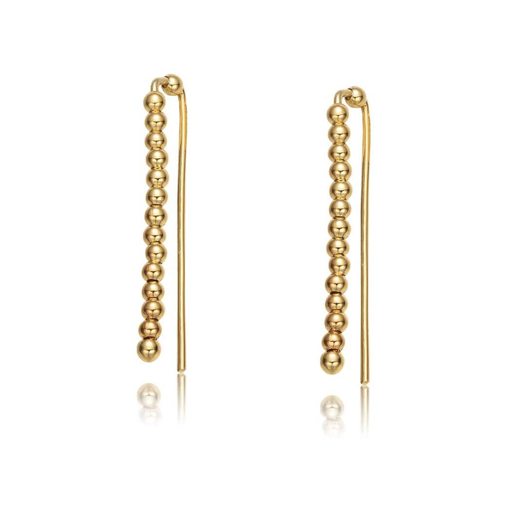 Carol Gold Ear Crawler Earrings-Jewels to Jet-Magnetic Clasp Jewelry