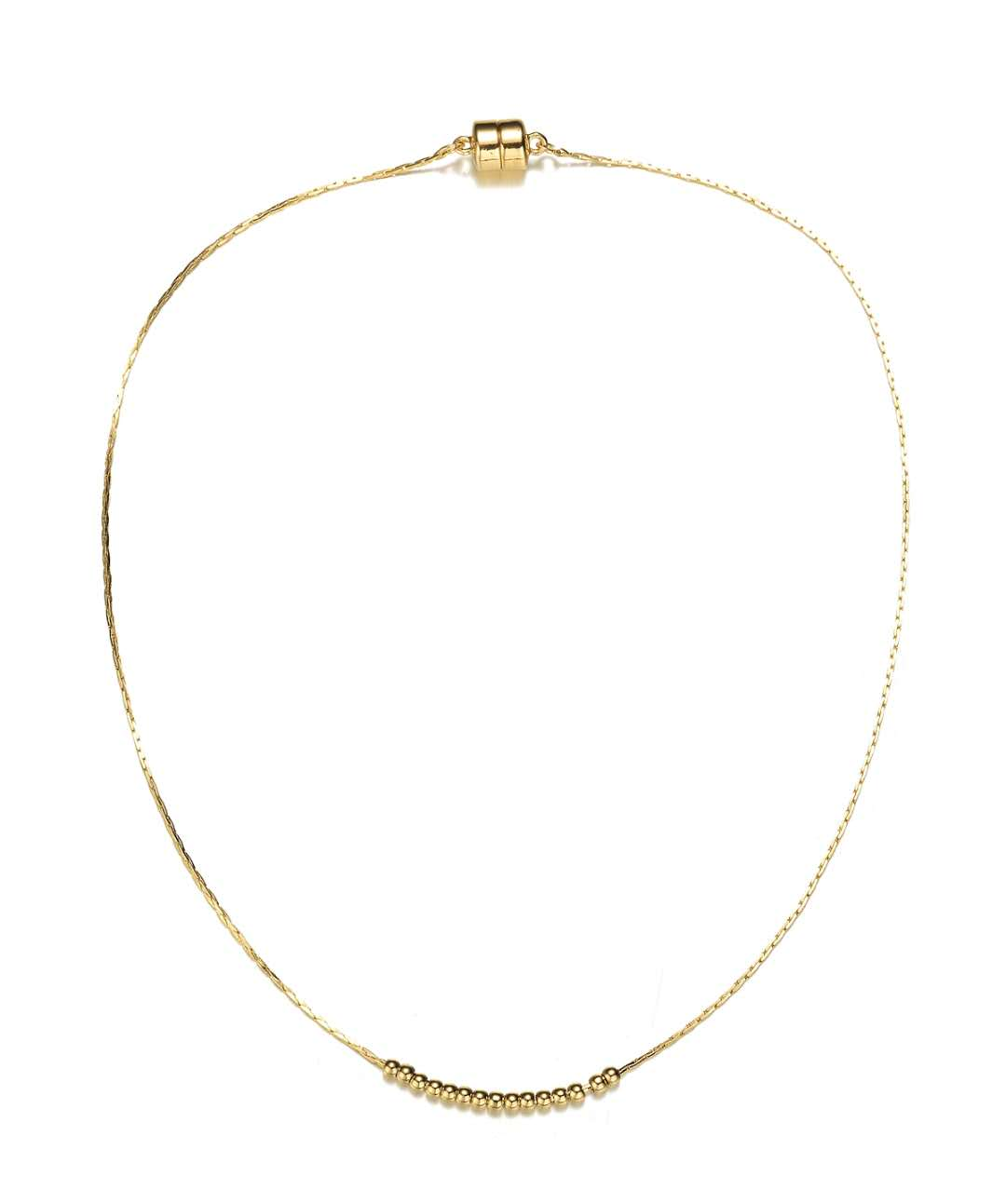 Carol Dainty Necklace: Silver or Gold-Jewels to Jet-Magnetic Clasp Jewelry