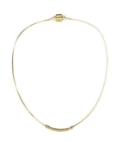 Carol Gold Necklace-Jewels to Jet-Magnetic Clasp Jewelry