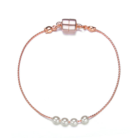 Carol: Elegant Pearl Bracelet-Jewels to Jet-Magnetic Clasp Jewelry