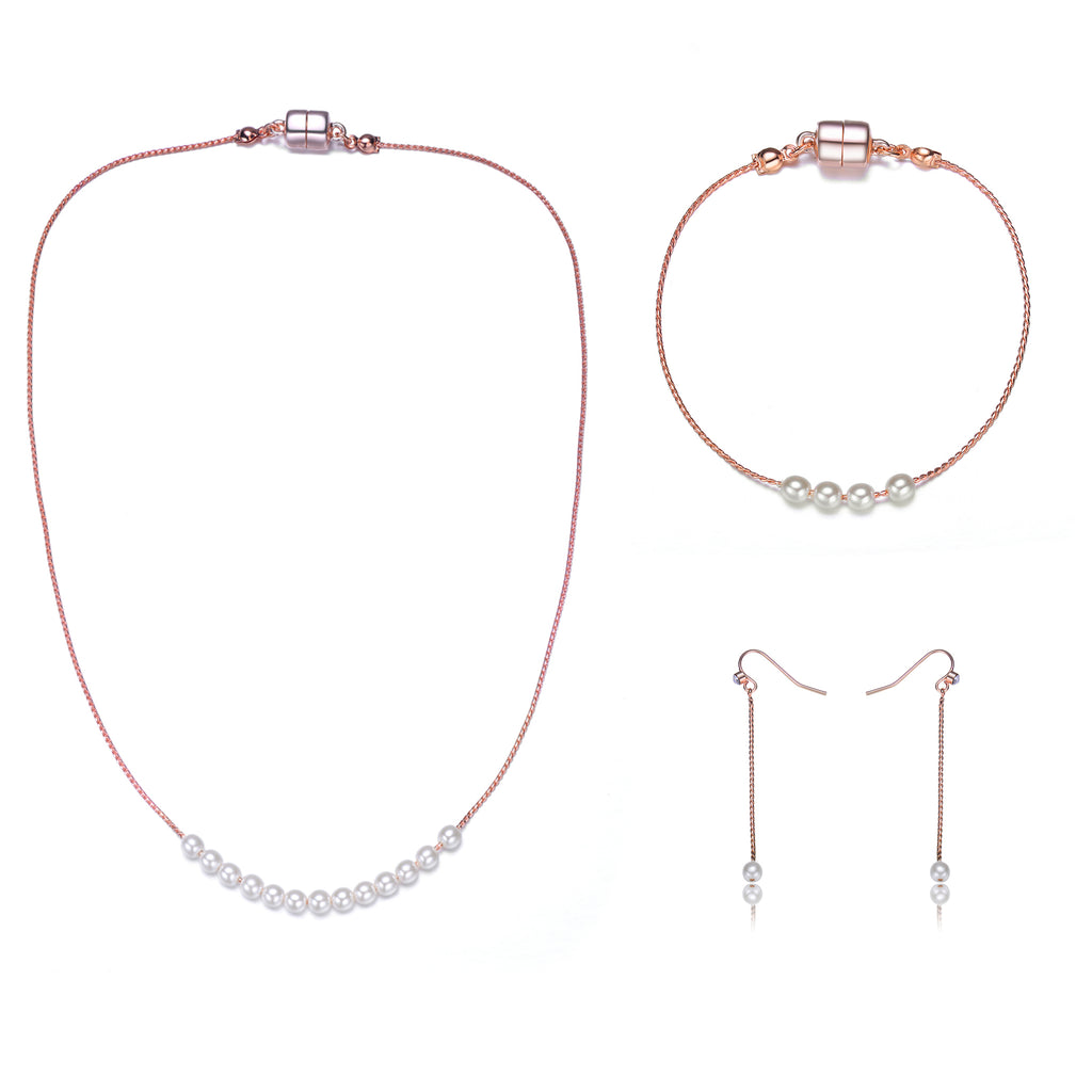 Carol: Full Set Pearl Jewelry Collection - Jewels to Jet