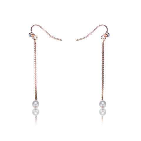 Carol: Pearl Dangle Earrings-Jewels to Jet-Magnetic Clasp Jewelry