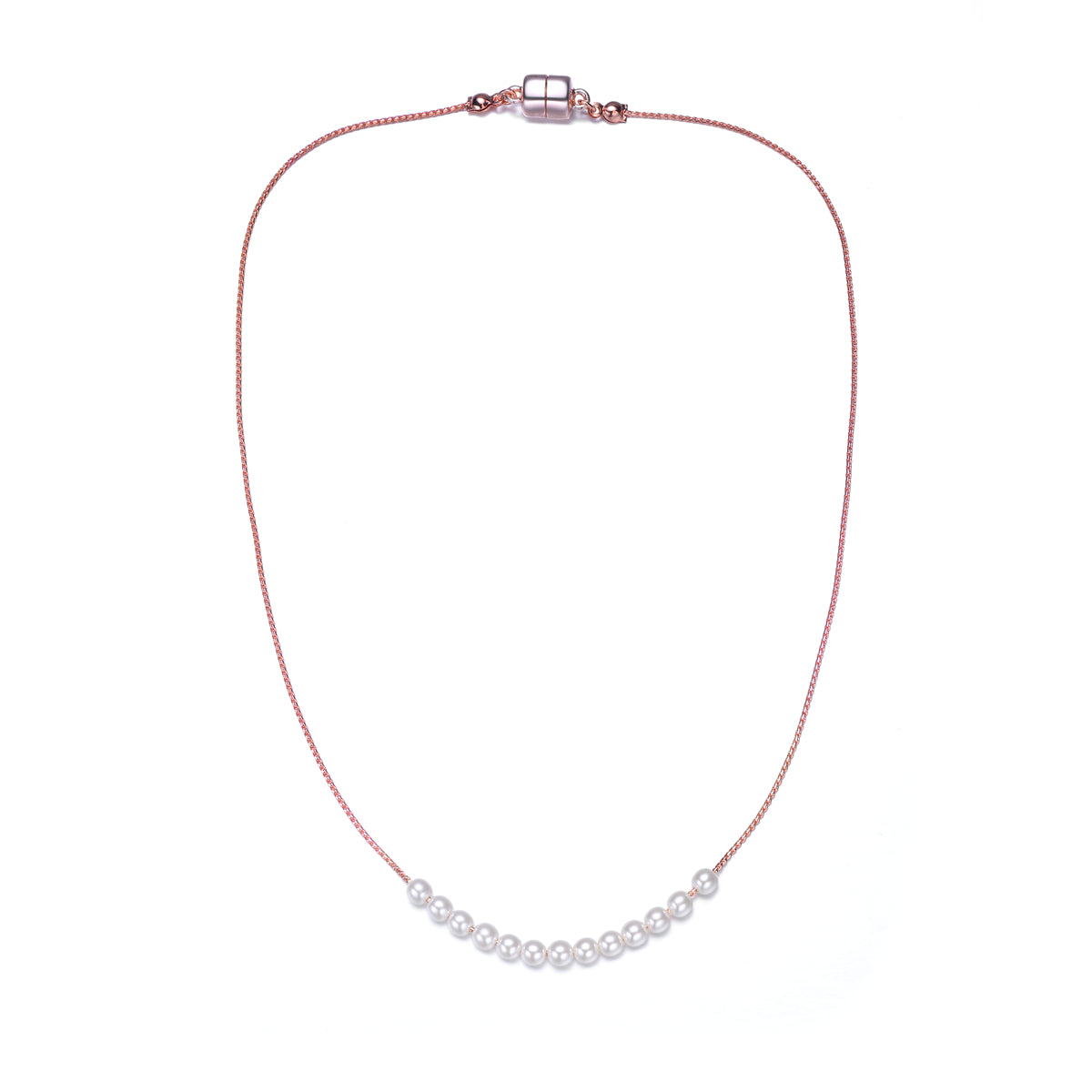 Carol: Elegant Pearl Necklace-Jewels to Jet-Magnetic Clasp Jewelry
