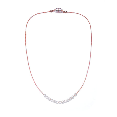 Carol Pearl Necklace-Jewels to Jet-Magnetic Clasp Jewelry