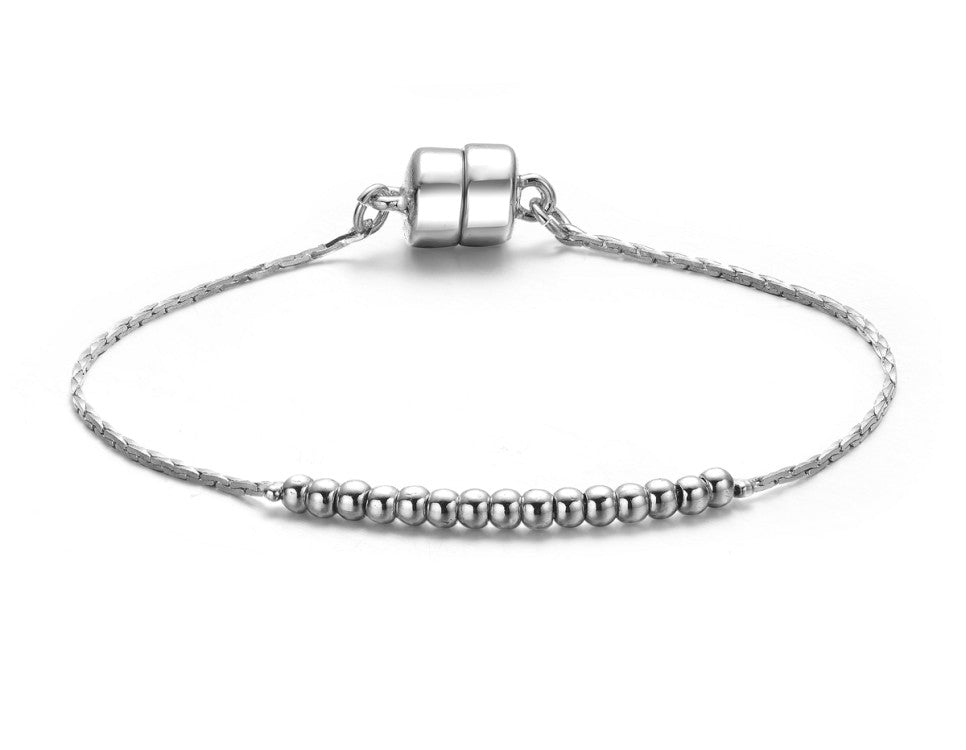 Carol Silver Bracelet-Jewels to Jet-Magnetic Clasp Jewelry