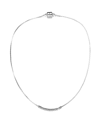 Carol Silver Necklace-Jewels to Jet-Magnetic Clasp Jewelry