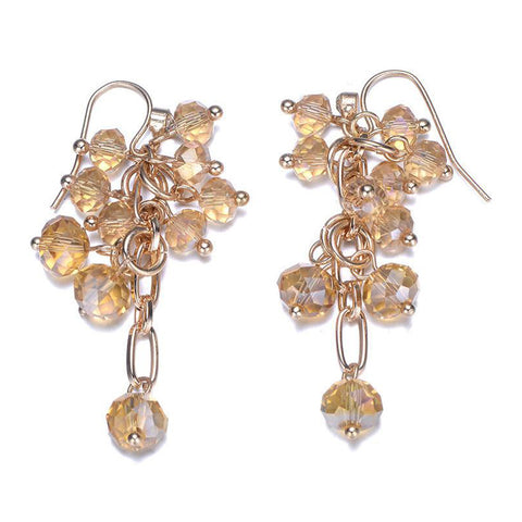 Clarice: Gold & Topaz Earrings-Jewels to Jet-Magnetic Clasp Jewelry
