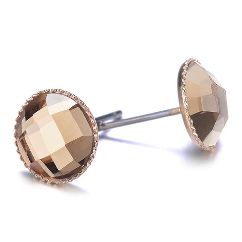 Clarice: Gold & Topaz Stud Earrings - Jewels to Jet