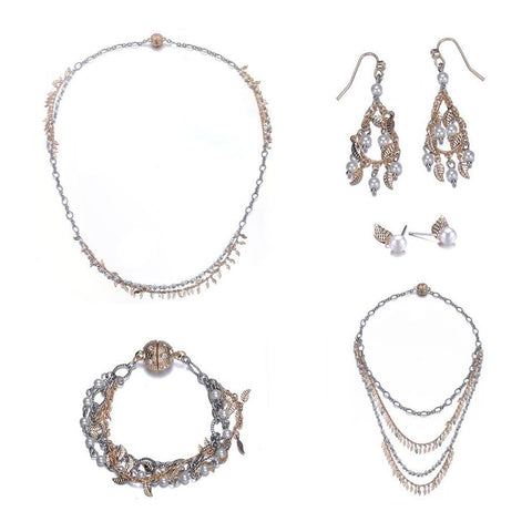 Amrita Sen MagnaClasp Cosmic Love: 5 Piece Jewelry Set-Jewels to Jet-Magnetic Clasp Jewelry