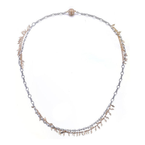 Amrita Sen MagnaClasp Cosmic Love: Long Single Strand Necklace-Jewels to Jet-Magnetic Clasp Jewelry