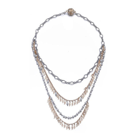 Amrita Sen MagnaClasp Cosmic Love: Multi-Strand Necklace - Jewels to Jet