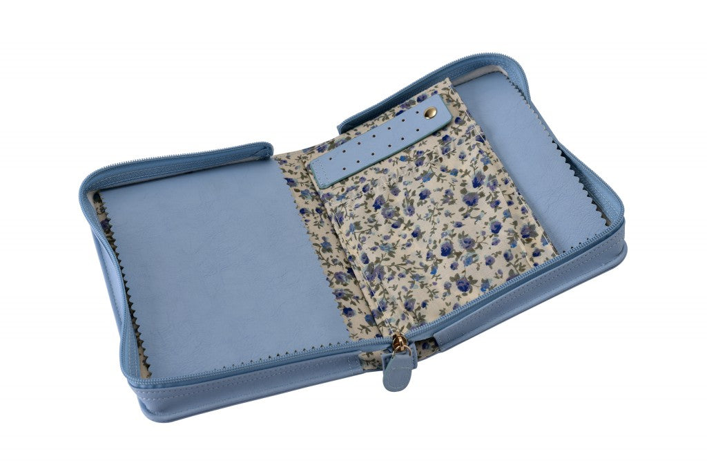 Light Blue Travel Case-Jewels to Jet-Magnetic Clasp Jewelry
