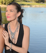 St. Tropez Long Necklace: Silver or Gold-Jewels to Jet-Magnetic Clasp Jewelry