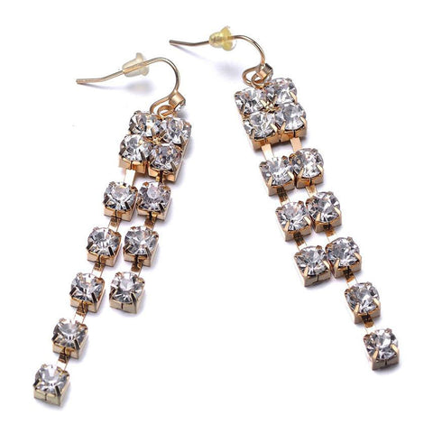 Elizabeth: Gold Drop Earrings-Jewels to Jet-Magnetic Clasp Jewelry