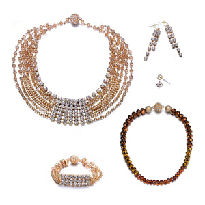 Elizabeth: Gold Full Set Jewelry Collection-Jewels to Jet-Magnetic Clasp Jewelry