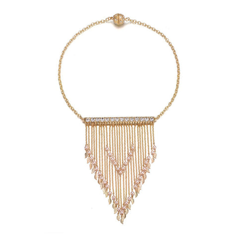 Amrita Sen: Gold & Honey Chunky Necklace-Jewels to Jet-Magnetic Clasp Jewelry