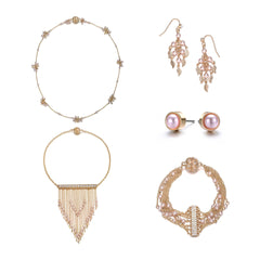 Amrita Sen MagnaClasp Gold & Honey: 5 Piece Jewelry Set