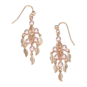 Amrita Sen MagnaClasp Gold & Honey: Pearl & Gold Drop Earrings-Jewels to Jet-Magnetic Clasp Jewelry