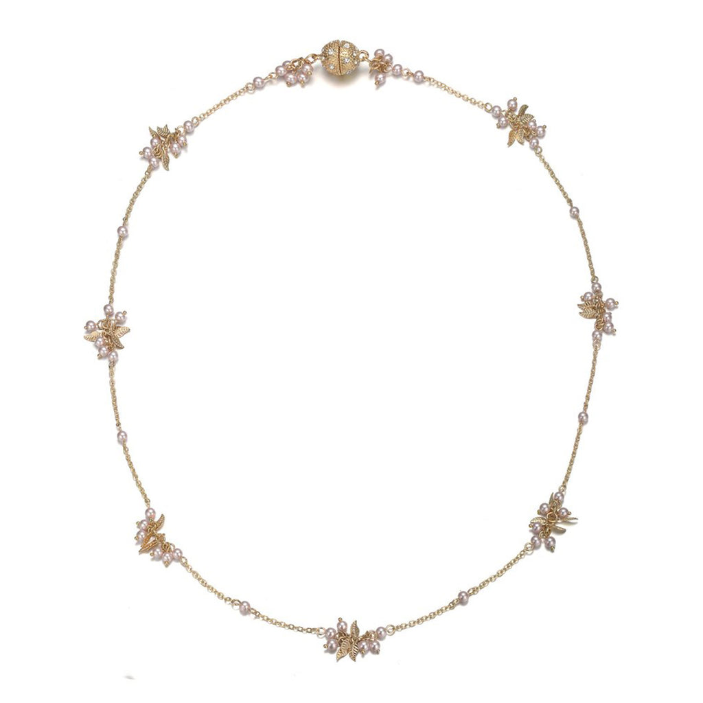 Amrita Sen Gold & Honey: Short Necklace-Jewels to Jet-Magnetic Clasp Jewelry