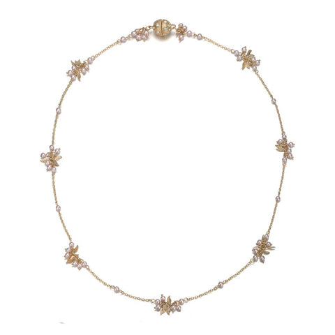 Amrita Sen MagnaClasp Gold & Honey: Short Necklace-Jewels to Jet-Magnetic Clasp Jewelry
