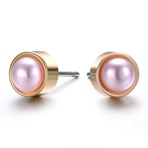 Amrita Sen MagnaClasp Gold & Honey: Pearl & Gold Stud Earrings-Jewels to Jet-Magnetic Clasp Jewelry
