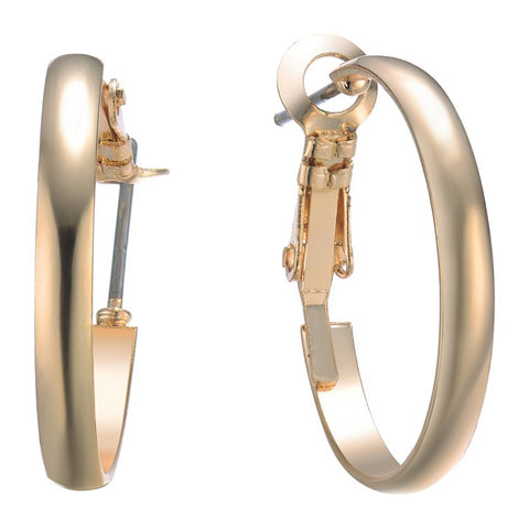 Hoop Earrings Gold 20mm By Jewels To Jet - Jewels to Jet