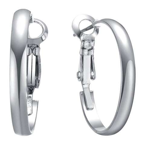 Hoop Earrings Silver 20mm By Jewels To Jet-Jewels to Jet-Magnetic Clasp Jewelry