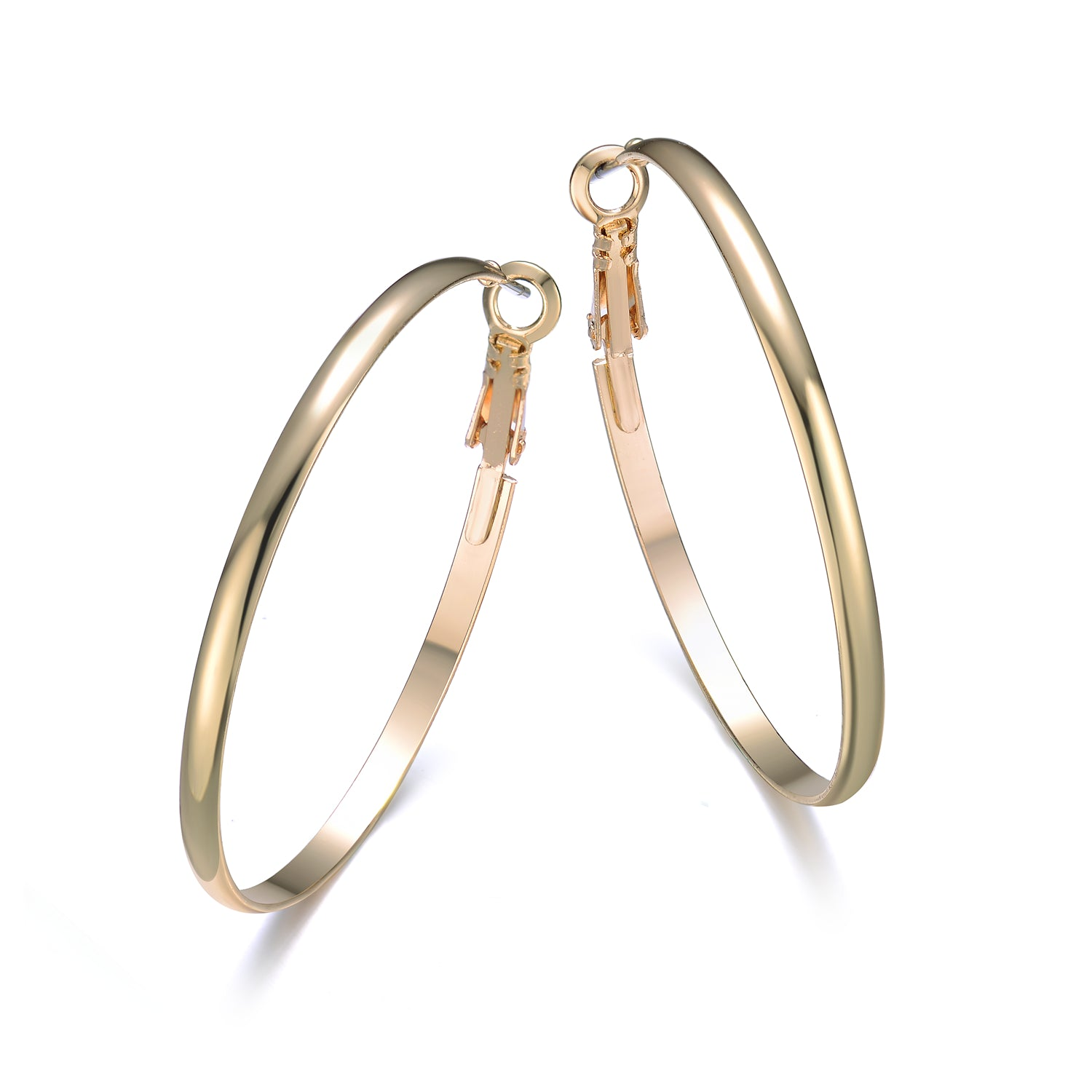 Hoop Earrings Gold 40mm By Jewels To Jet-Jewels to Jet-Magnetic Clasp Jewelry