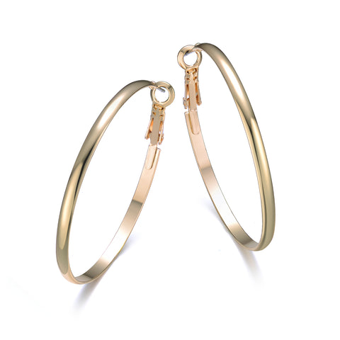 Hoop Earrings Gold 40mm By Jewels To Jet - Jewels to Jet