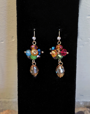 Monet: Colorful Dangle Earrings - Jewels to Jet