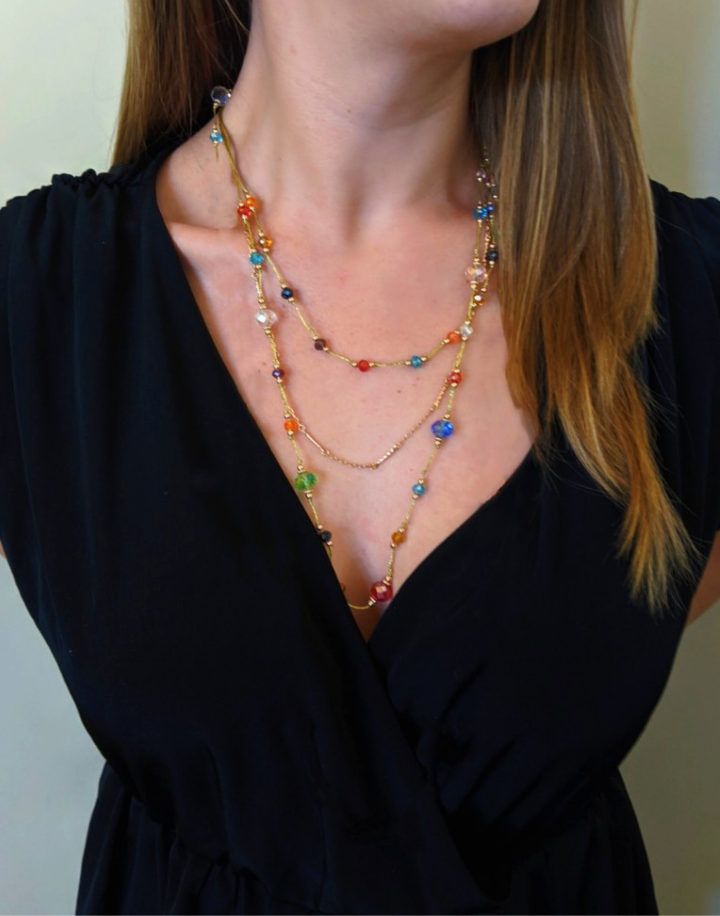 Bellissima: Multi-layered Necklace-Jewels to Jet-Magnetic Clasp Jewelry